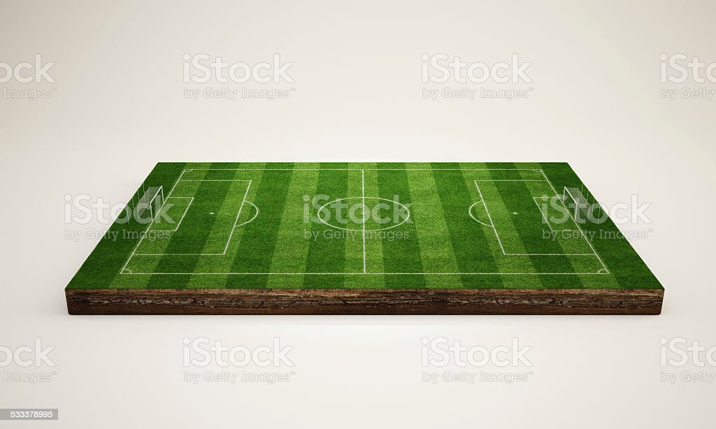 Soccer Field 3D stock photo