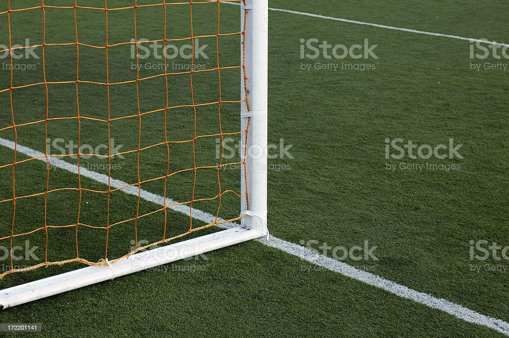 Soccer Field and Goal royalty-free stock photo