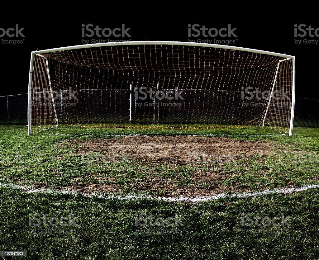 Soccer Field at Night stock photo