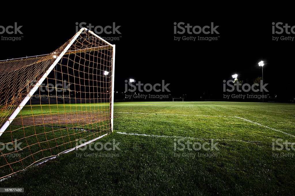 Soccer Field at Night royalty-free stock photo