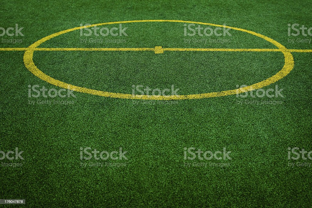 Soccer Field Center Circle royalty-free stock photo