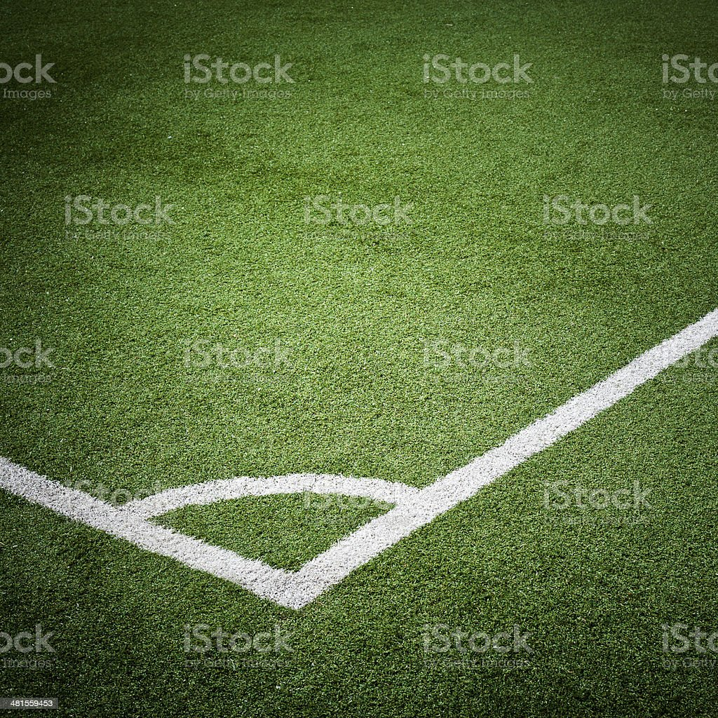 Soccer Field Corner, Square stock photo