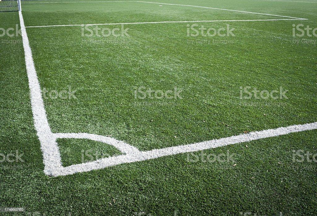 Soccer Field Corner Texture royalty-free stock photo