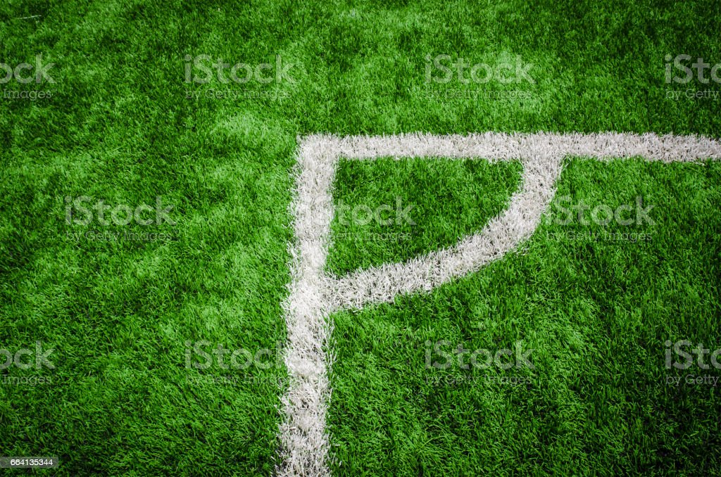 soccer field grass conner stock photo