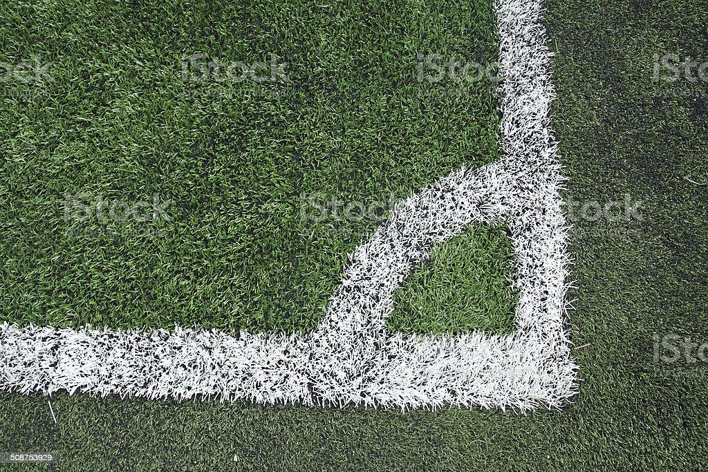 Soccer field grass corner vector art illustration