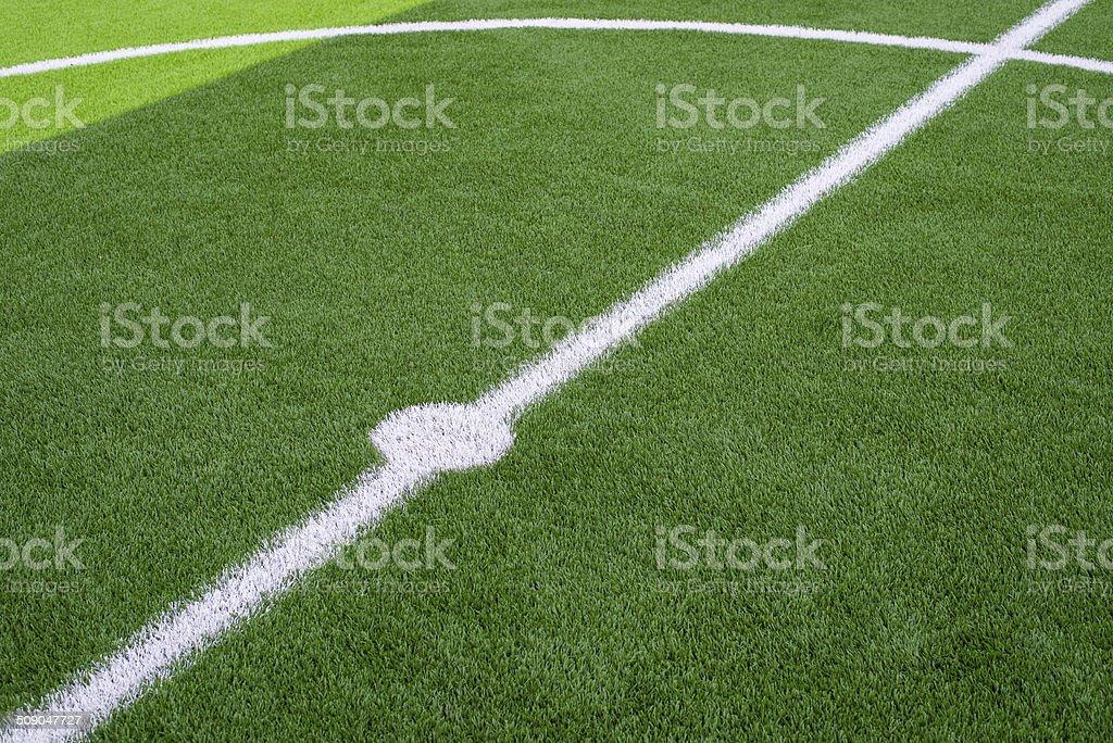 soccer field grass vector art illustration