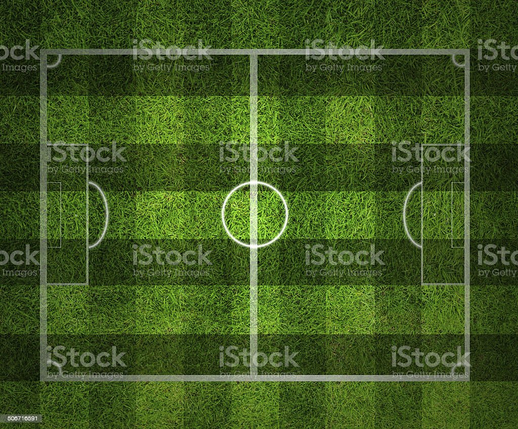 soccer field, Green grass background and texture stock photo