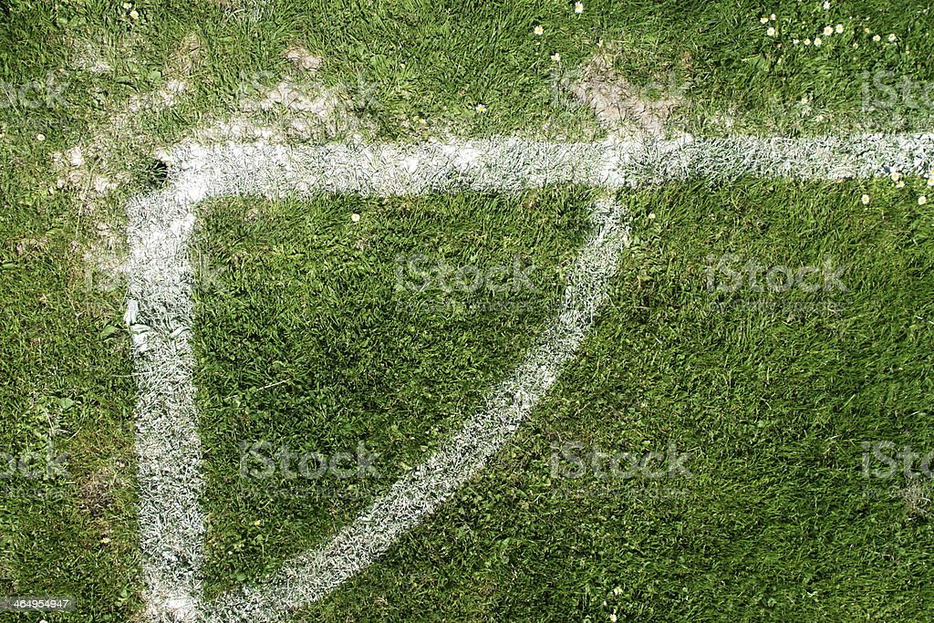 soccer field markings grungy grunge royalty-free stock photo