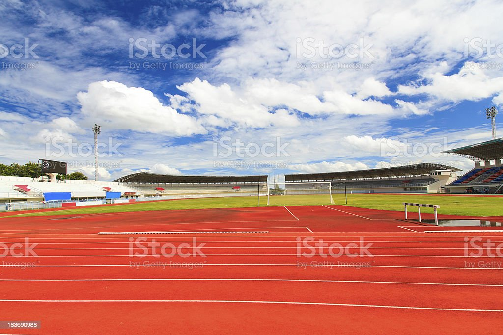 Soccer field royalty-free stock photo