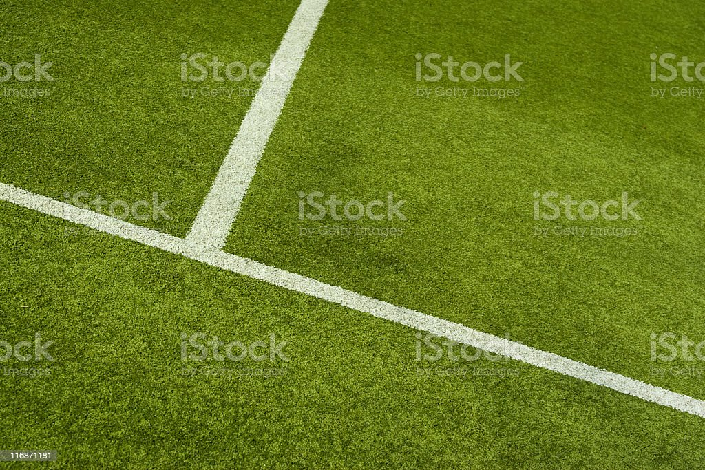 Soccer field with artificial surface royalty-free stock photo