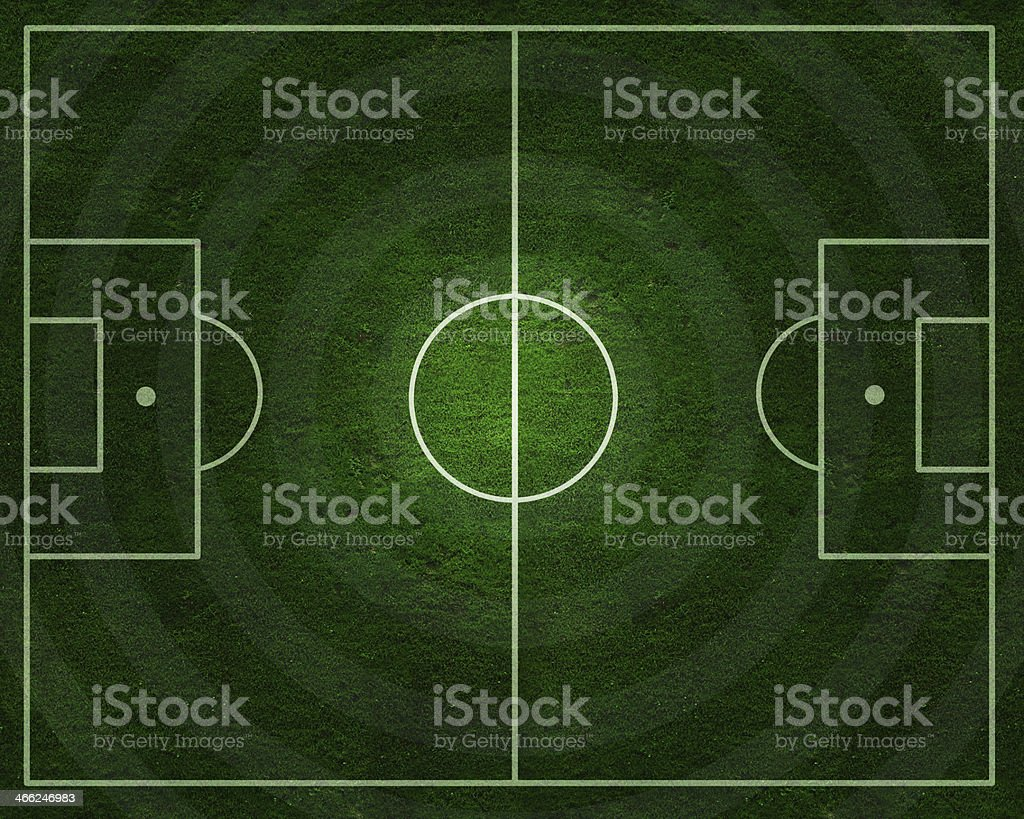 Soccer field with real gress texture stock photo