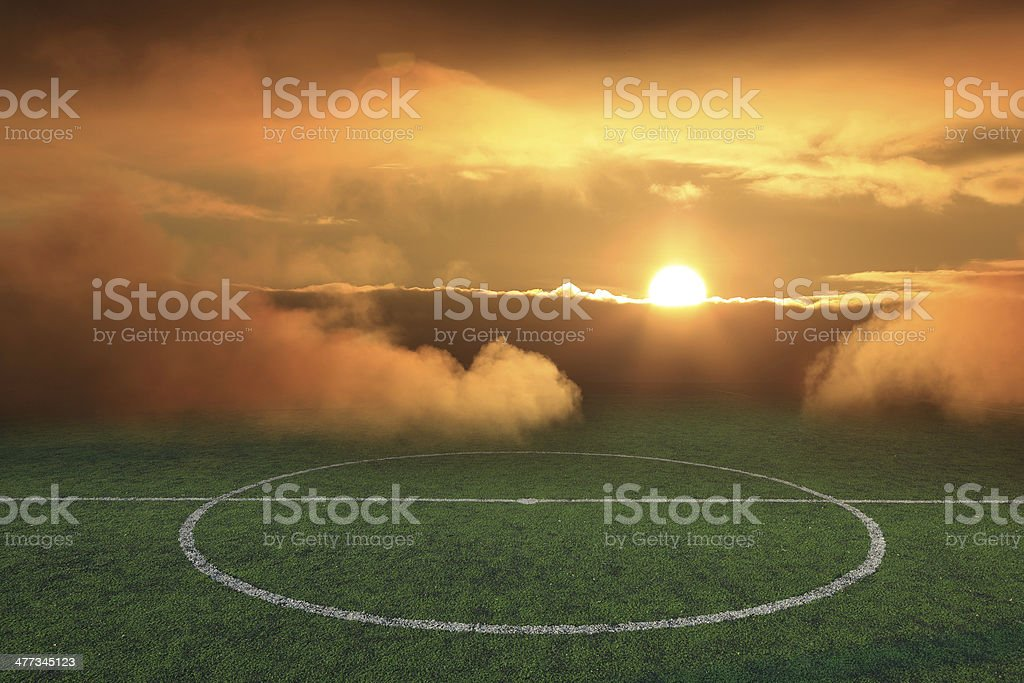 soccer field with sunlight of sport game background for design stock photo
