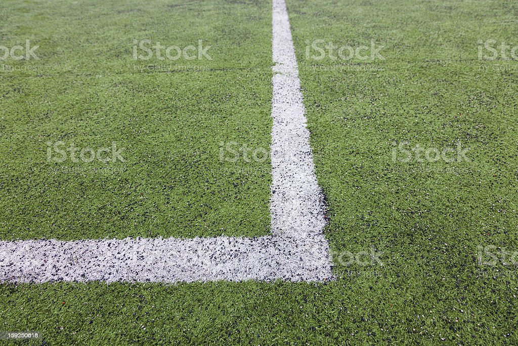 soccer field with white line royalty-free stock photo
