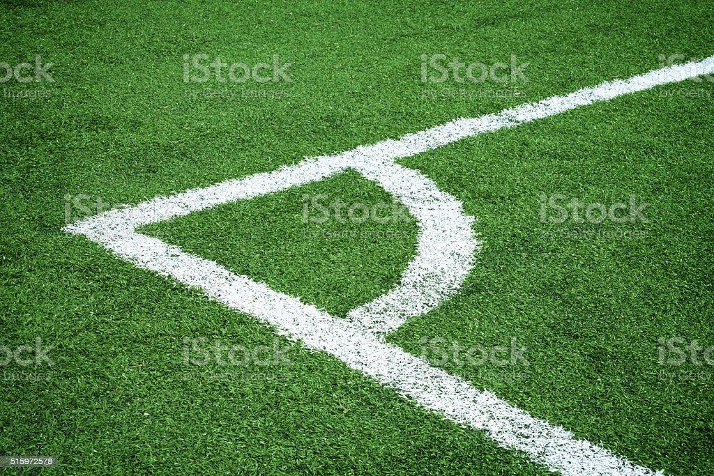 soccer field-corner stock photo