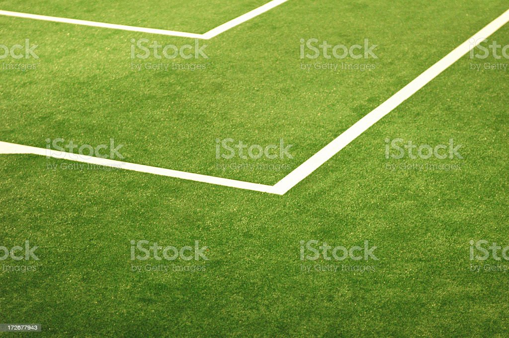 soccer field's lines - 3 stock photo