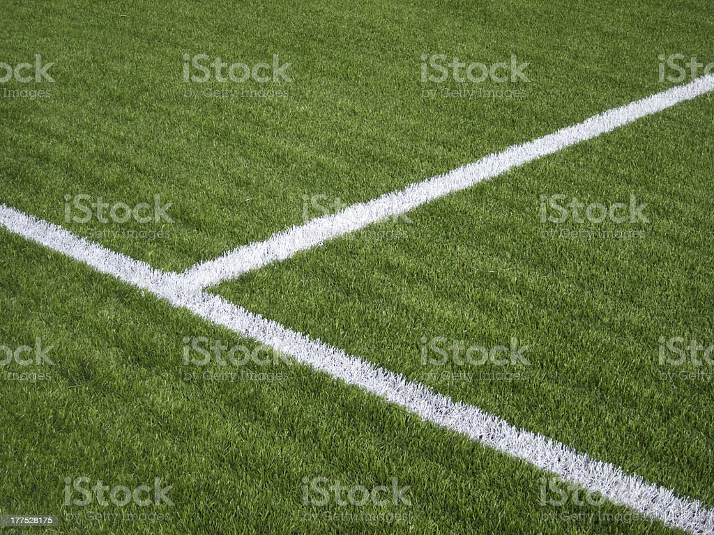 Soccer Field's Lines royalty-free stock photo