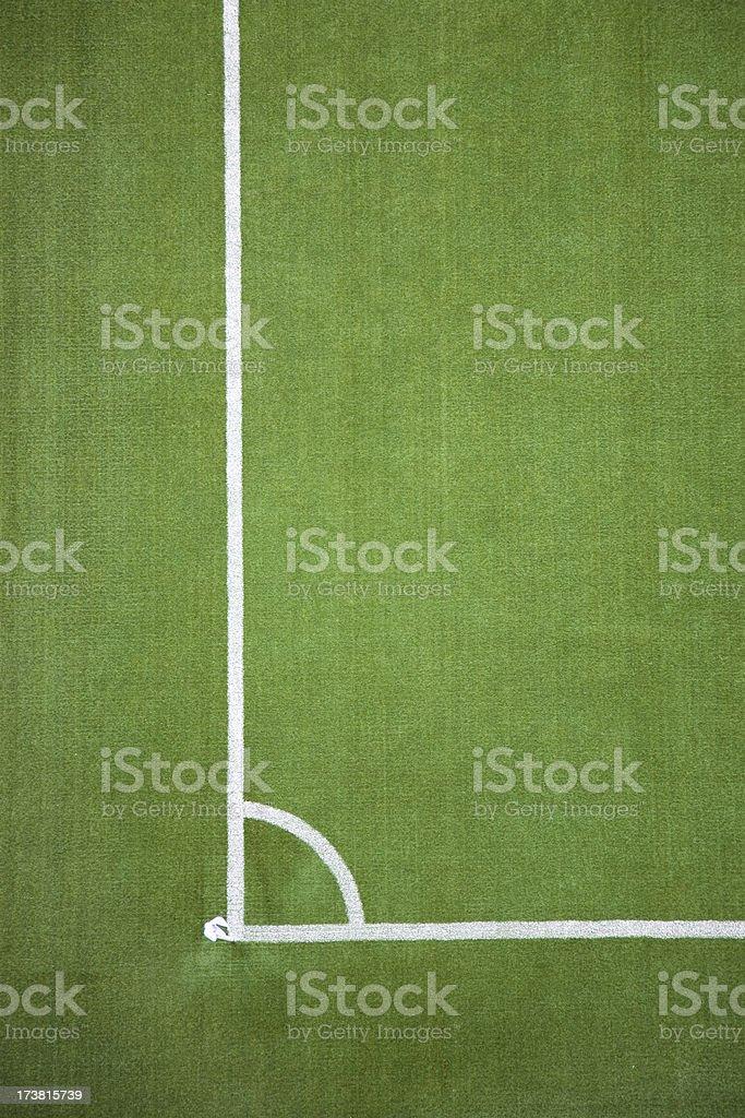 Soccer field's lines, Stadium series royalty-free stock photo