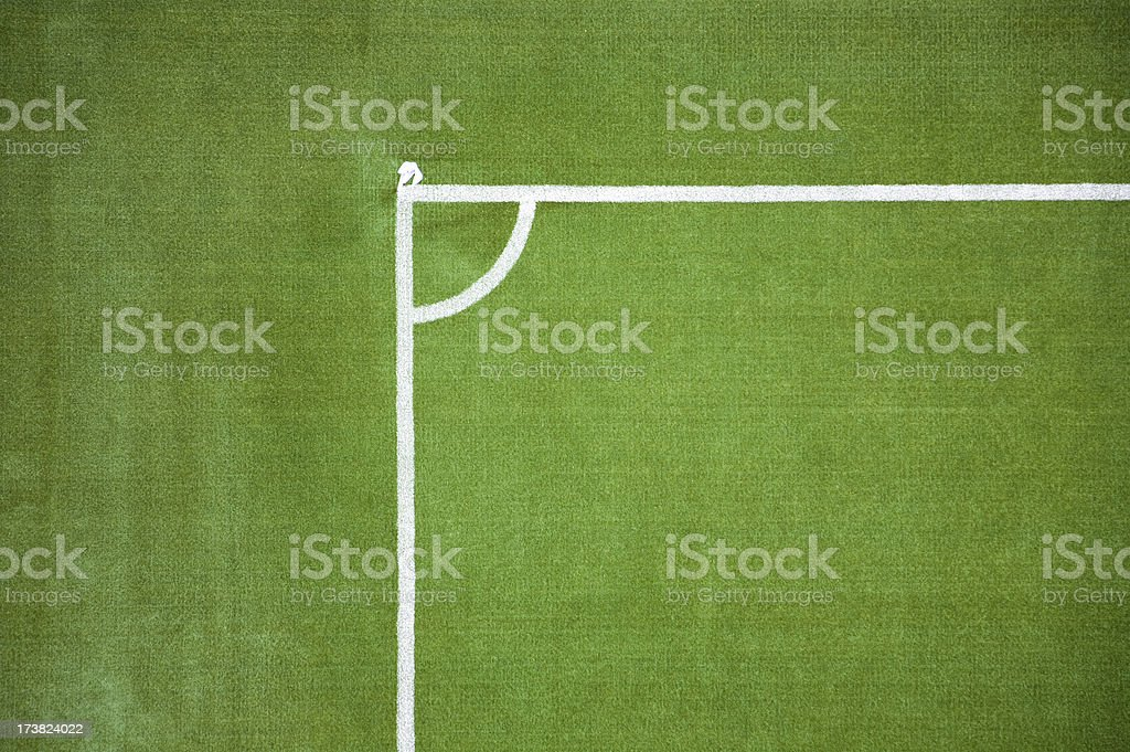 Soccer field's lines, Stadium series stock photo