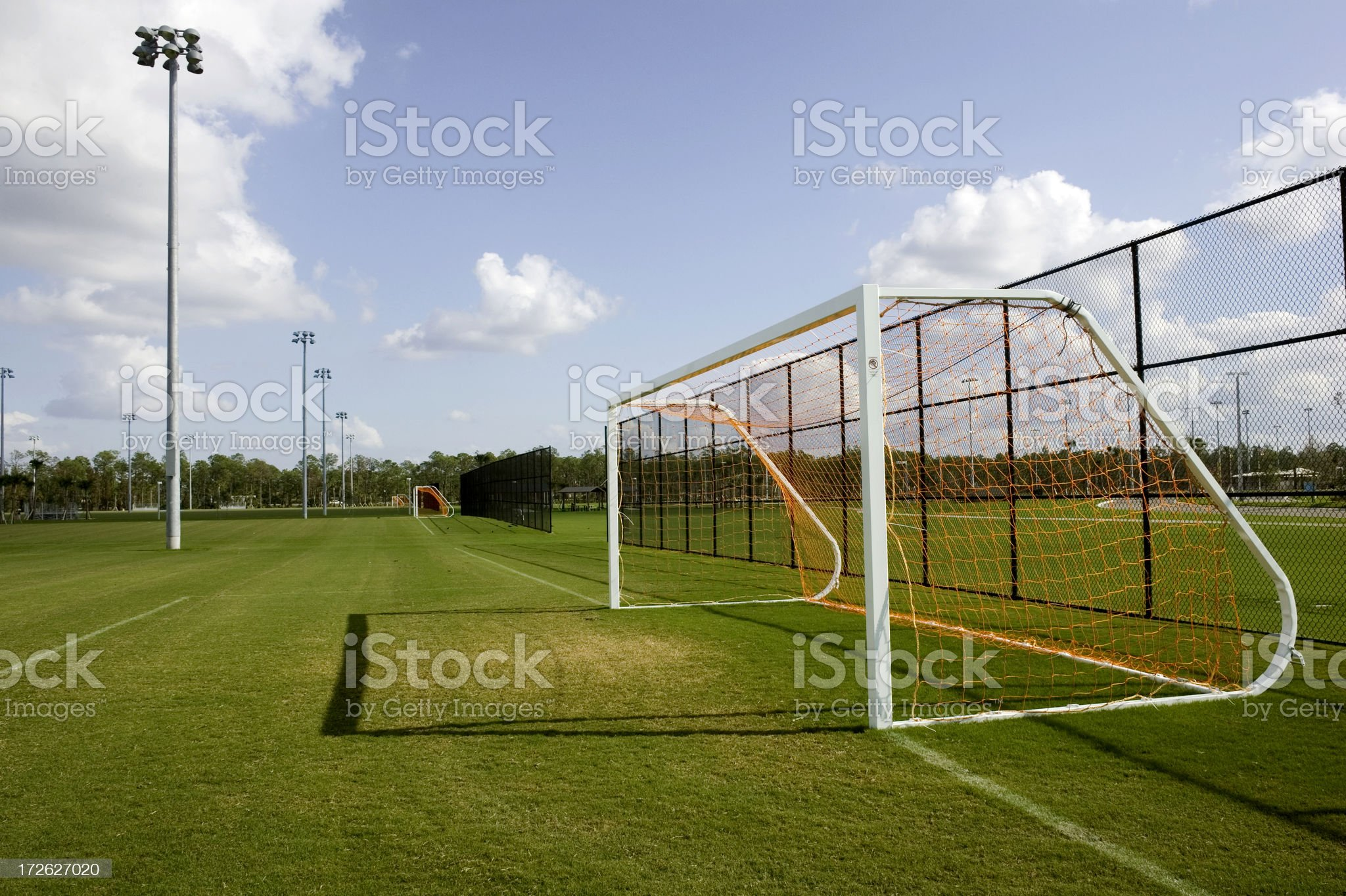 Soccer Fields royalty-free stock photo