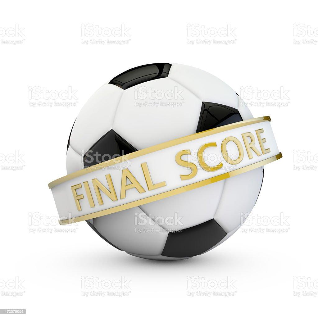 soccer final score banner stock photo