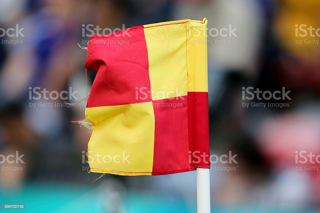 Soccer Flag royalty-free stock photo
