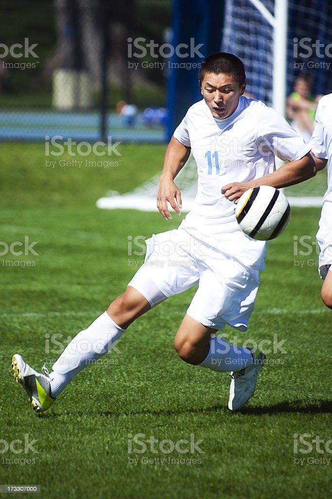 Soccer Follow the Ball royalty-free stock photo