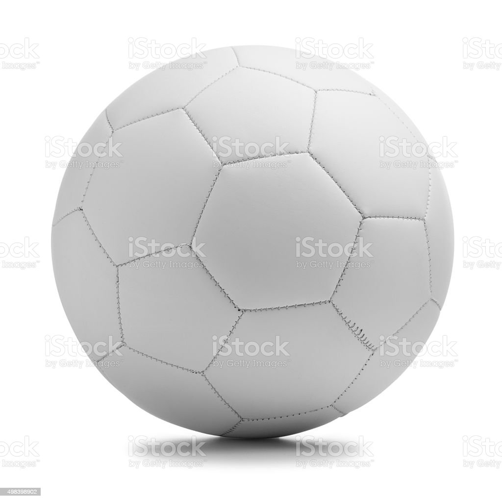 Soccer football ball on a white background stock photo