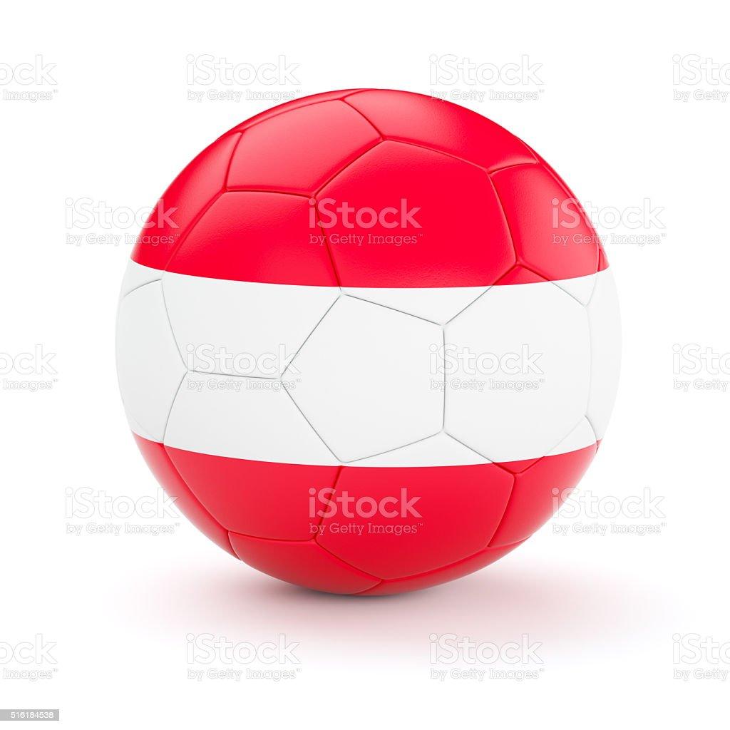 Soccer football ball with Austria flag stock photo
