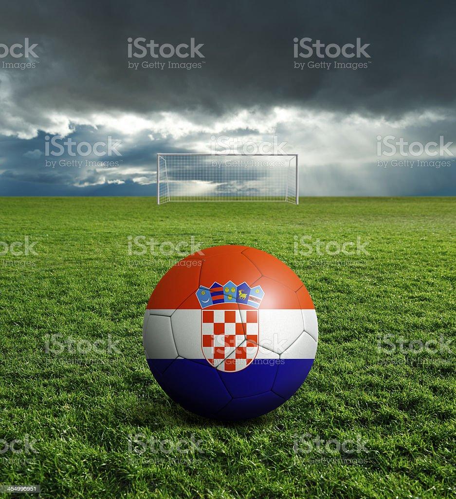 Soccer football ball with Croatia flag royalty-free stock photo