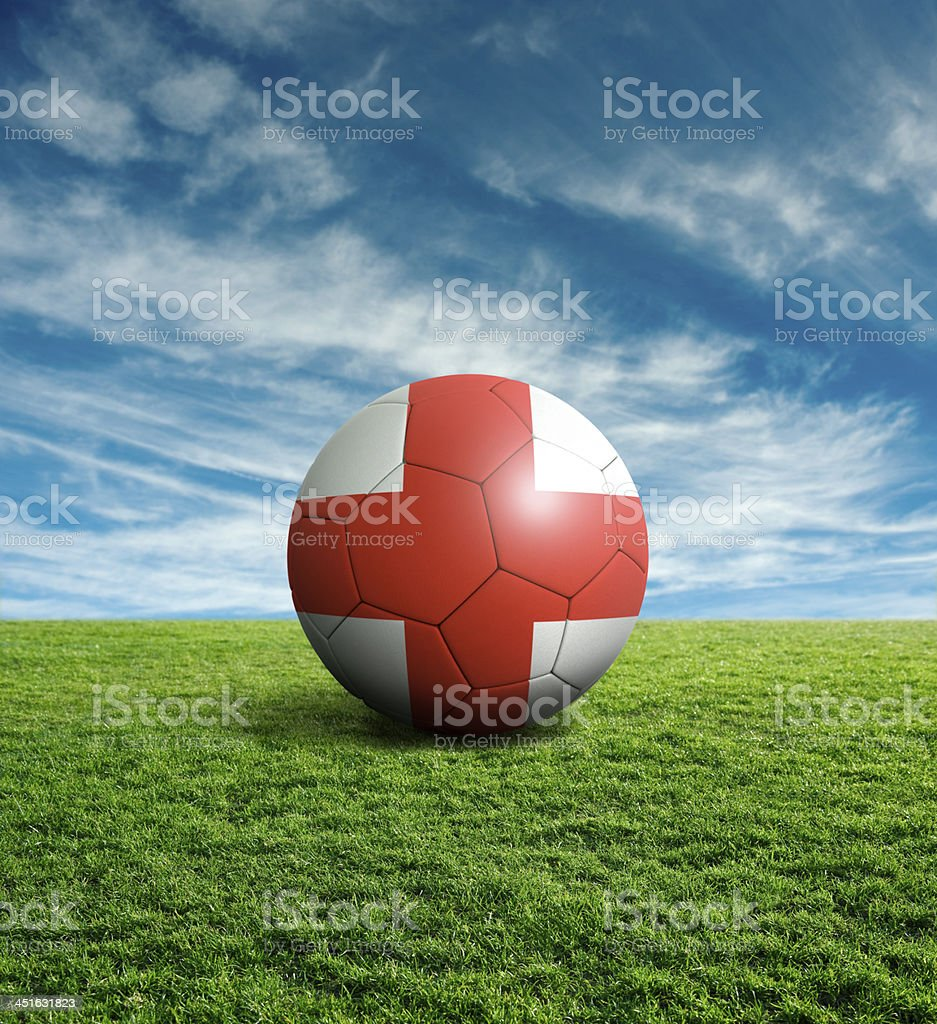 Soccer football ball with England flag royalty-free stock photo