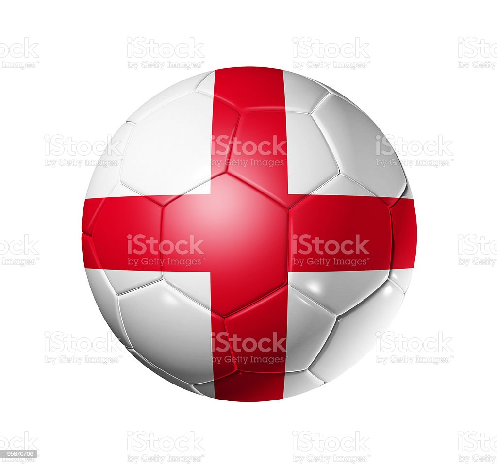 Soccer football ball with England flag royalty-free stock photo