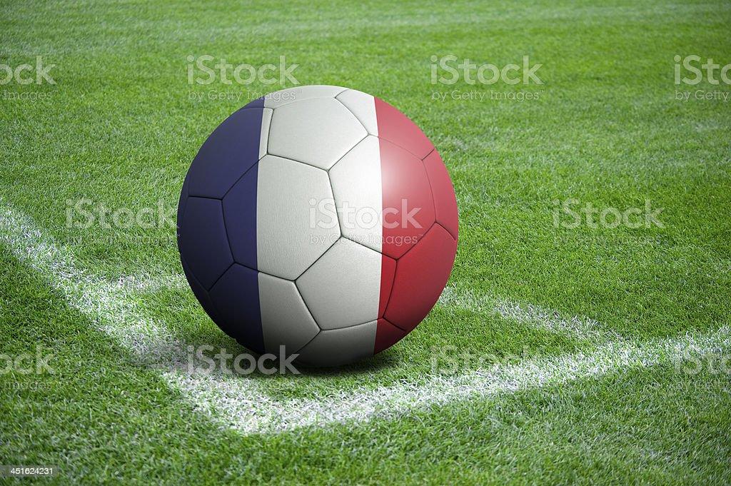 Soccer football ball with France flag stock photo