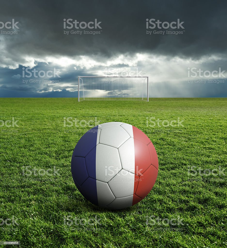 Soccer football ball with France flag royalty-free stock photo