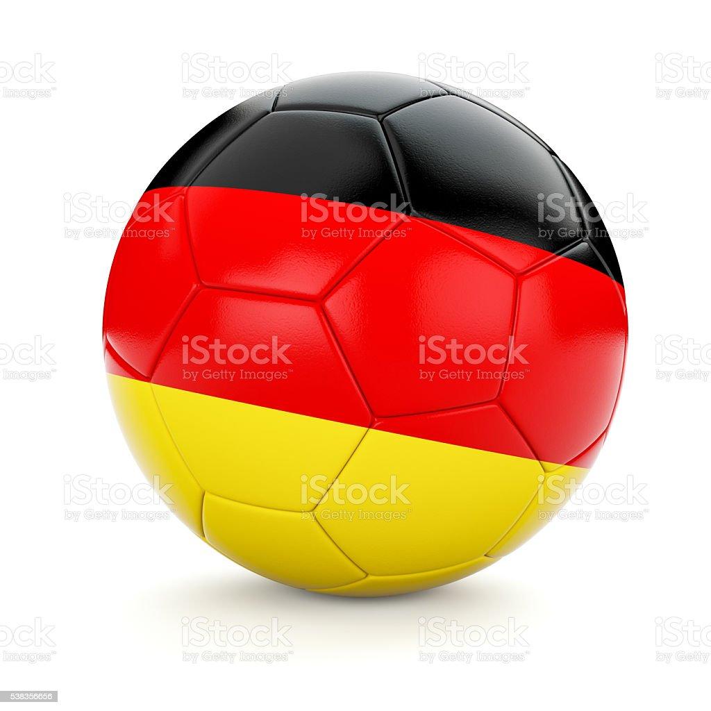 Soccer football ball with Germany flag stock photo