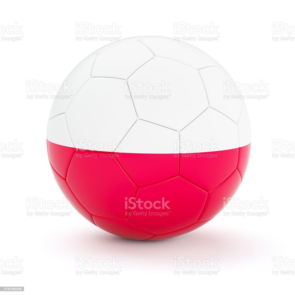 Soccer football ball with Poland flag stock photo