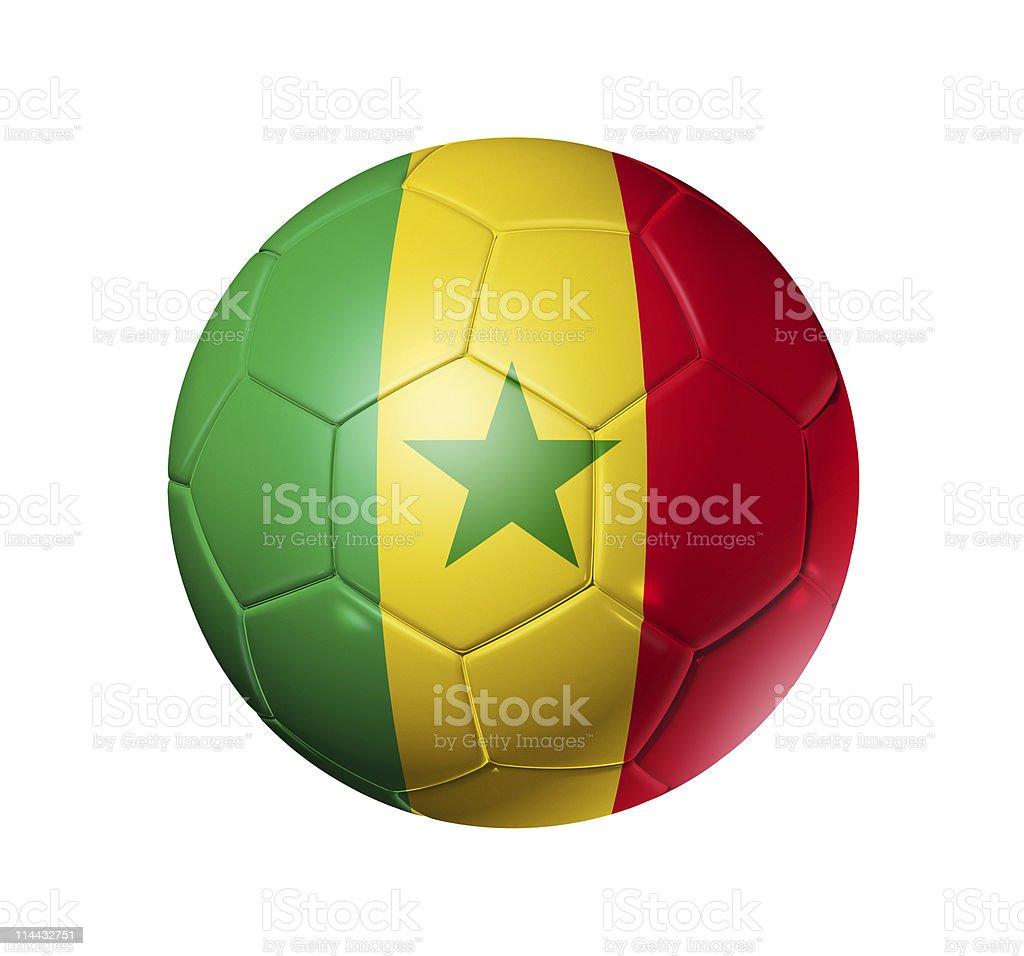 Soccer football ball with Senegal flag royalty-free stock photo