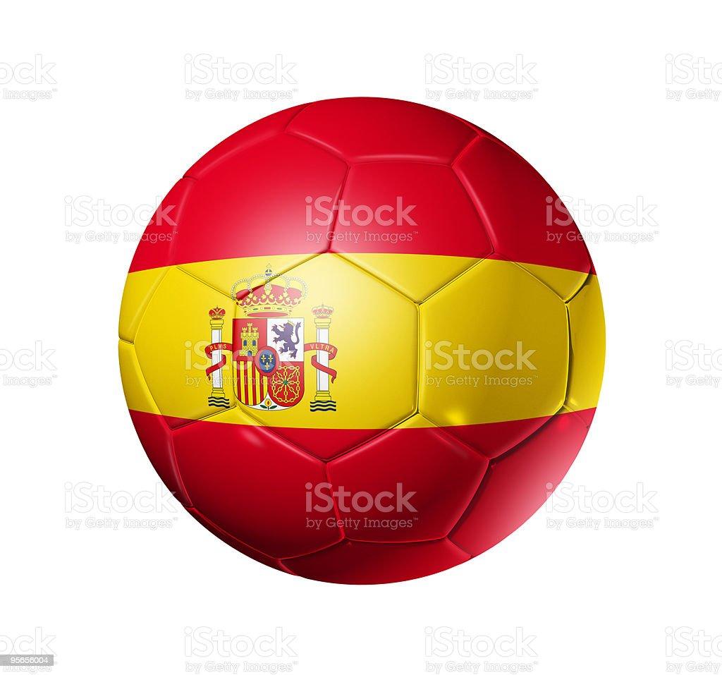 Soccer football ball with Spain flag royalty-free stock photo