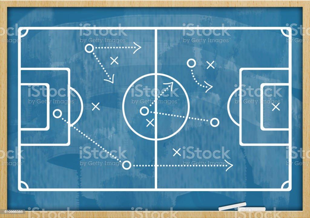 Soccer - Football  / Blue board concept (Click for more) stock photo