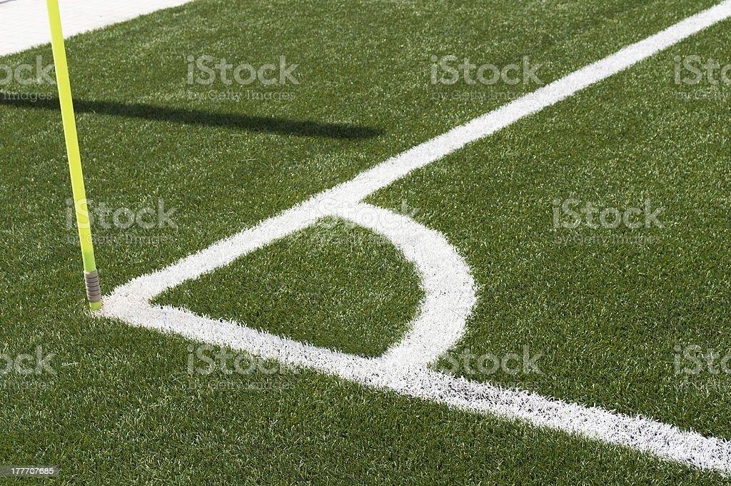 Soccer Football Corner royalty-free stock photo