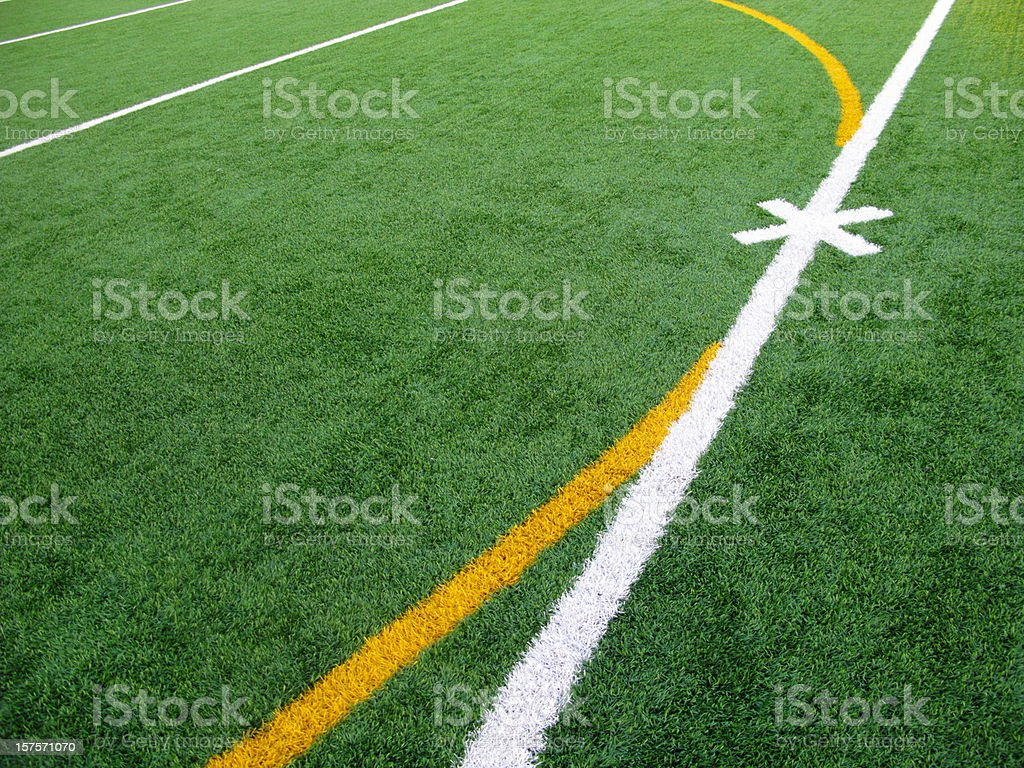 Soccer Football Field Lines stock photo