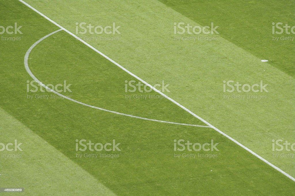 soccer football field markings stock photo