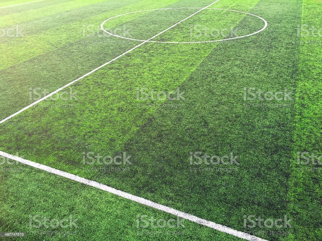 Soccer football field stock photo