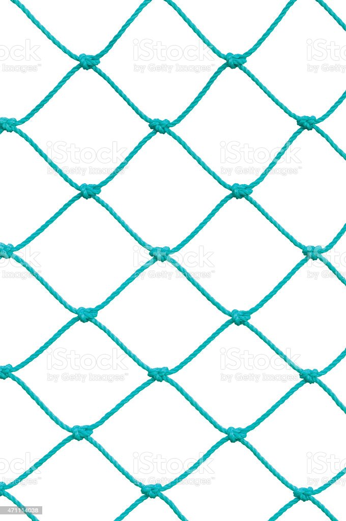 Soccer Football Goal Post Set Net Rope New Green Isolated stock photo