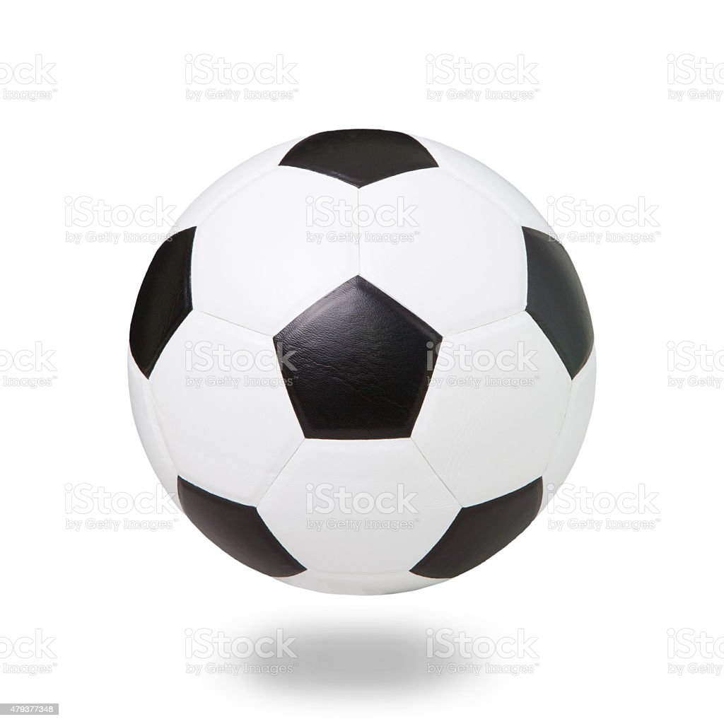 soccer football on white stock photo