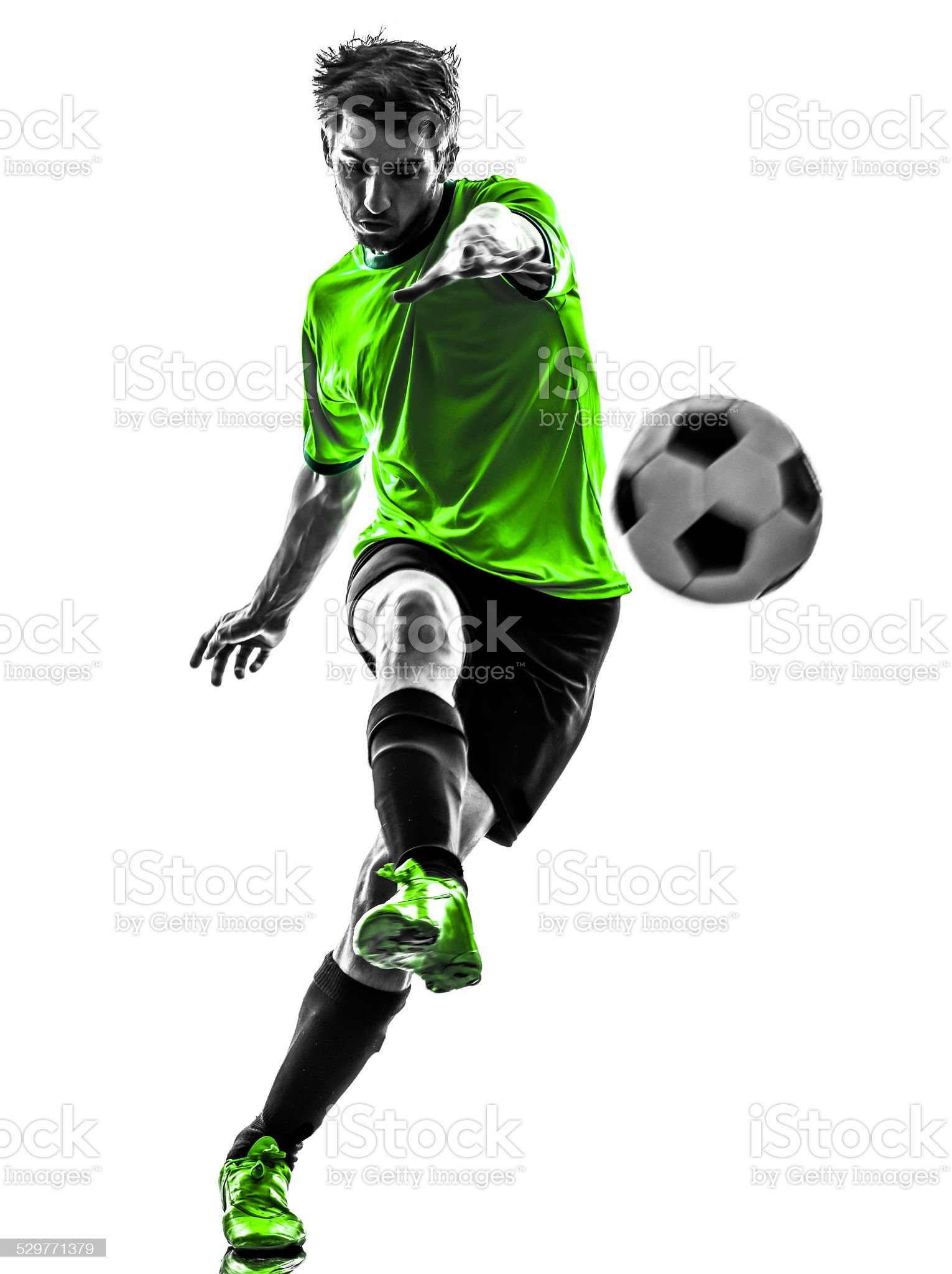 soccer football player young man kicking silhouette royalty-free stock photo