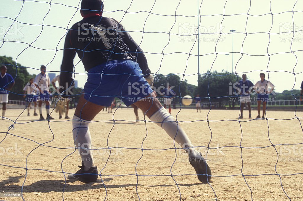 Soccer game in Brazil royalty-free stock photo