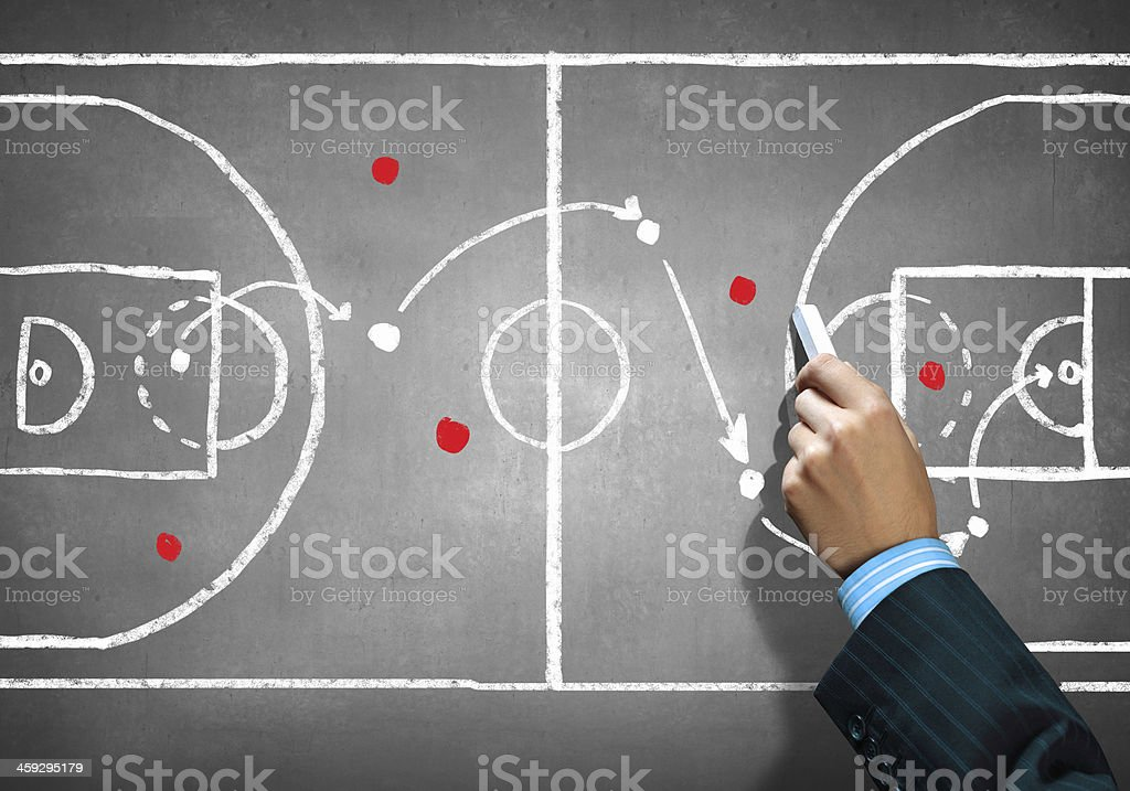 Soccer game strategy stock photo