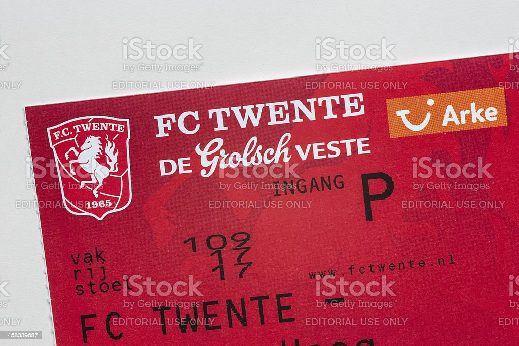 FC TWENTE soccer game ticket stock photo