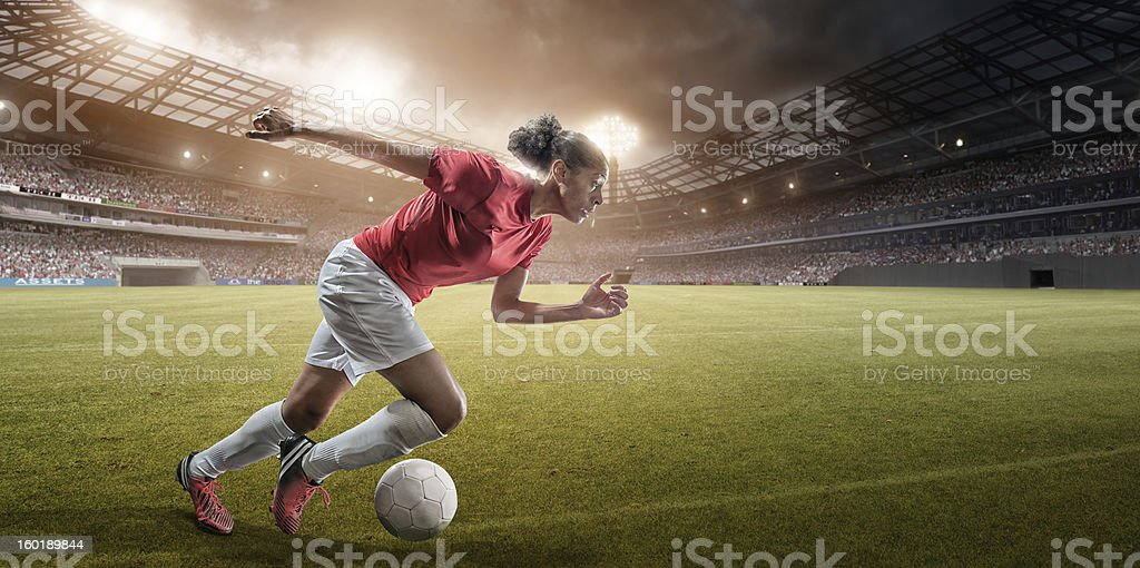 Soccer Girl is Fast royalty-free stock photo