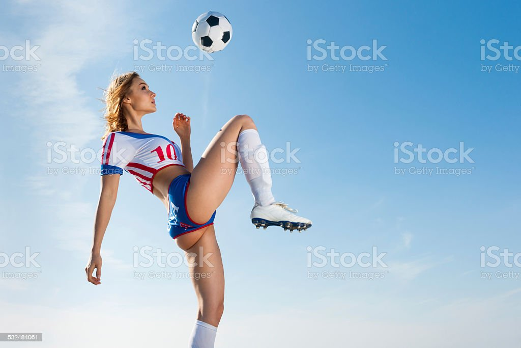 Soccer Girl stock photo